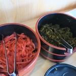 哲麺 - 紅生姜&辛子高菜