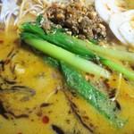 麺AKIBA - チンゲン菜?小松菜かな?