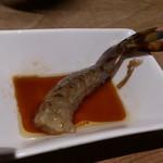 蟹御殿 - ・夕飯 ○活き車海老踊食い(塩焼き可)