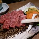 蟹御殿 - ・夕飯 ☆佐賀和牛溶岩プレート焼