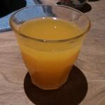蟹御殿 - ドリンク写真:・朝飯 サービスのミカンジュース