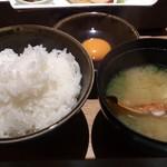 蟹御殿 - ・朝飯 ◎白米、◎蟹の味噌汁