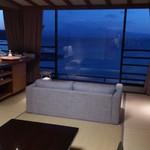 蟹御殿 - その他写真:・部屋から普賢岳