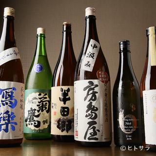 東海地方の地酒を中心に、全国の銘酒も多数ラインナップ