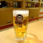 串カツ あらた - 生ビール 中 480円
