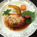 ムッシュ藤田 - 阿波尾鶏のハンバーグランチ