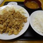 食事処 志野 - 豚肉七味炒め定食