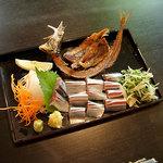 761398 - ランチの秋刀魚のお刺身です♪