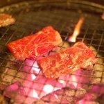 炭火焼肉 もざいく - 料理写真:カルビ&ハラミ