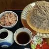 Fumikirisoba - 料理写真:大山盛そば&今日のご飯(今日はお赤飯)