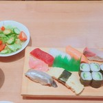 鮨芳 - にぎり定食(880円)【平成29年11月06日撮影】