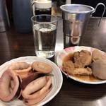 平野屋 - お酒+鯛の子+イカリング