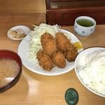 とんかつ 山家 - カキフライ定食(950円)