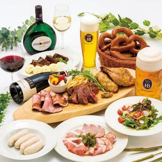 【自慢のドイツ料理満載コース】各種宴会コースご予約受付中!