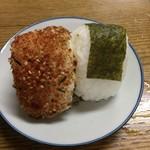 十河製麺 - オニギリ2コ盛