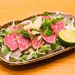 居魚菜家 のものも - 阿波牛たたき