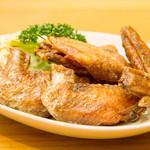 居魚菜家 のものも - 名古屋風手羽先の唐揚げ(めんたい、ピリ辛)