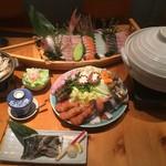 魚料理の店 鮮魚まるふく - 宴会コース料理です。