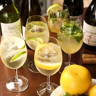果物×ワインのさわやかオリジナルカクテルで乾杯!