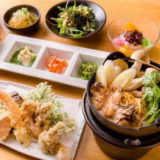 忘年会にオススメ、旬の食材を贅沢に使用したコースをご用意!