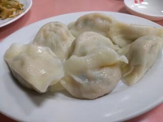歓迎 本店 - 豚肉水餃子(7個)480円