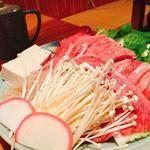 牛肉割烹 自雷也 - 料理写真:すき焼き@3500円(写真は2人前)