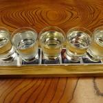 割烹 魚仙 - きき酒セット900円
