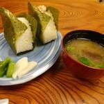 割烹 魚仙 - 明太子・さけ2コ800円