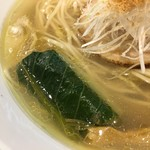 Japanese Soba Noodles 蔦 - ロメインレタスのお浸し