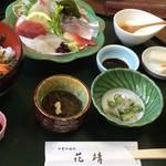 天然活魚の店 花靖  - うに丼膳 2400円