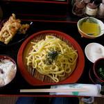 道の駅 桜島 火の島 めぐみ館 - 小みかんざるうどんセット