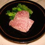 ぐりる嘉野 - 料理写真:京都牛A5等みすじを使ったあ刺身
