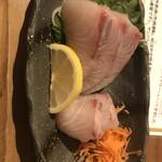 日本酒バル米酒 - カンパチの刺身