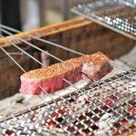 御幸町 田がわ - 牛肉焼き 広島県産黒毛和牛雌A5のイチボ