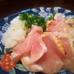 串焼き わか - 信玄鶏胸肉の炙りタタキ
