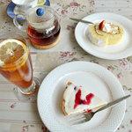 レストラン サカミティー - 手作りケーキセット2種