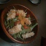 7615466 - 白身魚フライと水菜のサラダ