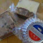文寿堂菓子店 - マドレーヌとおぐらケーキとマーブルケーキ