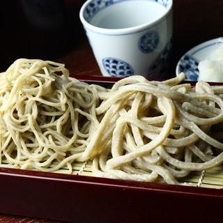 ◆石臼挽き自家製粉◆で手打ちした風味絶佳な蕎麦