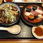 万盛寿し - 料理写真:寿司天セット、980円です。