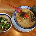 Tsurukamedou - 博多とんこつ全部のせとチャーシュー丼