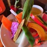欲ばりイタリアン ボンジョル豚 - ★★★☆ たっぷりの新鮮野菜  ディップはキャンドルで温めながら 雰囲気も良し!