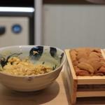 味あら井 - 山国川津蟹の味噌とシャリ&雲丹