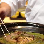 味あら井 - クエ&松茸鍋