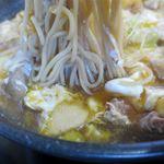 そば処 大和 - 鶏もつとじそばの麺