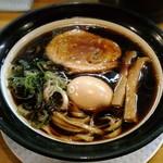 金久右衛門 - 【大阪ブラック + こだわり煮玉子】¥720 + ¥100