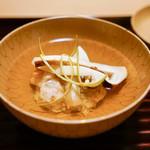 松川 - 松茸と蟹しんじょう椀