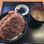 中央道原パーキングエリア(下り)スナックコーナー - ソースかつ丼ダブル820円