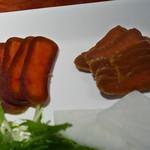 銀座酒場 マルハチ - ボラの唐墨、ブリの味噌漬け