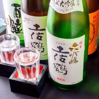 お酒好き必見!個性豊かな土佐の地酒を種類豊富にご用意!